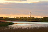 Blackpool Tower viewed from Marton Mere at sunset. Marton Mere is part of the original Body of Water that Blackpool takes it's name from. Black due to the Tannins, natural carried in the water.