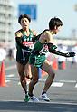 (L to R) Yudai Fukuda (Aoyama-Univ), Masato Endo (Aoyama-Univ), JANUARY 2, 2012 - Athletics : The 88th Hakone Ekiden Race Hiratsuka Relay place in Kanagawa, Japan. (Photo by Atsushi Tomura/AFLO SPORT) [1035].