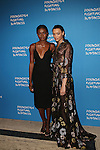 Models Zuri Tibby  and Lameka Fox attend the Foundation Fighting Blindness World Gala Held at Cipriani downtown located at 25 Broadway
