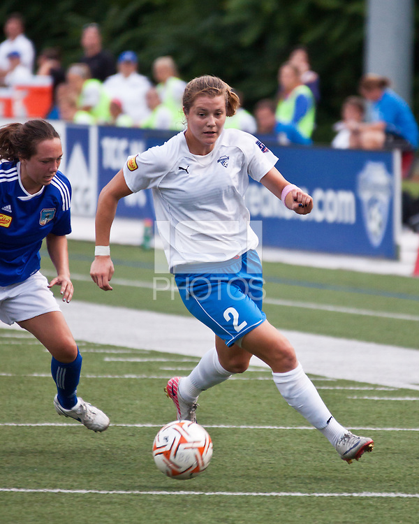 Boston Breakers forward Katie Schoepfer (2).  In a Women's Premier Soccer League Elite (WPSL) match, the Boston Breakers defeated ASA Chesapeake Charge, 3-1, at Dilboy Stadium on July 6, 2012.