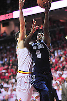 Hoyas' L.J. Peak shoots a layup. Maryland defeated Georgetown 75-71 during a game at Xfinity Center in College Park, MD on Wednesday, November 17, 2015.  Alan P. Santos/DC Sports Box