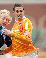 San Francisco, California - Saturday March 17, 2012: Geoff Cameron in action during the MLS match at AT&T Park. Houston Dynamo defeated San Jose Earthquakes  1-0