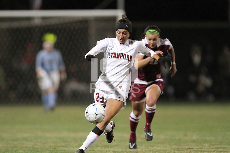 STANFORD, CA:  Christen Press during Stanford's 5-0 victory over Florida State at Stanford, California on November 26, 2010.