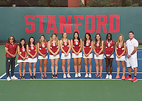 Stanford Tennis W Portraits and Team Photo, November 11, 2016