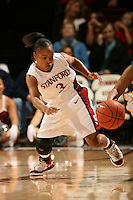 14 January 2006: Markisha Coleman during Stanford's 87-75 win over the California Golden Bears at Maples Pavilion in Stanford, CA.