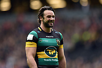 Ben Foden of Northampton Saints looks on during a break in play. Aviva Premiership match, between Northampton Saints and Saracens on April 16, 2017 at Stadium mk in Milton Keynes, England. Photo by: Patrick Khachfe / JMP