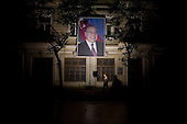 Baku, Azerbaijan .December 14, 2006..Posters and statues of former Azeri President Heydar Aliev are common place throughout the country. He died 3 years ago and has been replaced by his son Ilham Aliyev. He is idolized today.