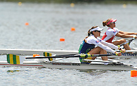 Hamilton, NEW ZEALAND.  BRA LW1X moves away from the start in a heat of the lightweight women's single sculls2010 World Rowing Championship on Lake Karapiro Monday  01/11/2010. [Mandatory Credit Peter Spurrier:Intersport Images].