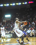 "Ole Miss guard Zach Graham (32)  dunks at the C.M. ""Tad"" Smith Coliseum in Oxford, Miss. on Thursday, December 29, 2010. Ole Miss won 100-62. (AP Photo/Oxford Eagle, Bruce Newman)"