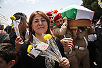 SULAIMANIYAH, IRAQ: Mourners and officials attended the funeral of Kurdish poet Sherko Bekas, who died in Sweden where he was receiving treatment for cancer.<br /> <br /> Bekas was a prize-winning poet and prominent figure in Kurdistan.<br /> <br /> Photo by Besaran Tofiq/Metrography