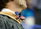 May 19, 2012; A graduate wears a stars-and-stripes bow tie at the Mendoza College of Business Graduate degree ceremony at the Purcell Pavilion...Photo by Matt Cashore/University of Notre Dame