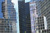 reflection  building  on skyscraper windows