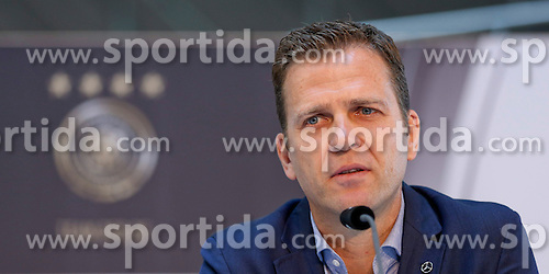 08.06.2015, Mercedes Benz Zenter, Koeln, GER, Nationalmannschaft, Pressekonferenz, im Bild Sportlicher Leiter Oliver Bierhoff // during a press conference of the german national football team at the Mercedes Benz Zenter in Koeln, Germany on 2015/06/08. EXPA Pictures &copy; 2015, PhotoCredit: EXPA/ Eibner-Pressefoto/ Sch&uuml;ler<br /> <br /> *****ATTENTION - OUT of GER*****
