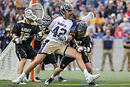 Annapolis, MD - April 15, 2017: Navy Midshipmen Jack Ray (42) in action during game between Army vs Navy at  Navy-Marine Corps Memorial Stadium in Annapolis, MD.   (Photo by Elliott Brown/Media Images International)