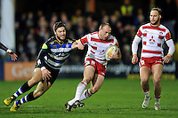 Steve McColl of Gloucester Rugby in possession. Aviva Premiership match, between Bath Rugby and Gloucester Rugby on February 5, 2016 at the Recreation Ground in Bath, England. Photo by: Patrick Khachfe / Onside Images