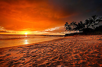 Sunset on The Beach - Maui, Hawaii