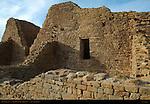 Structural Detail, West Ruin Anasazi Hisatsinom Chacoan Complex, Aztec Ruins National Monument, Aztec, New Mexico