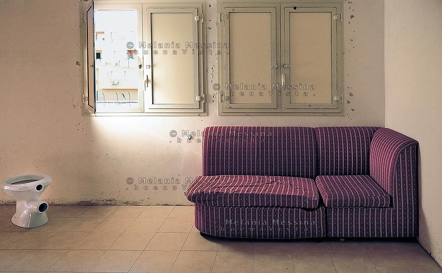 Palermo: Zen district, interiors.<br /> Palermo: interni di una casa nel quartiere Zen