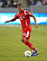 CARSON, CA - March 23, 2012: Eric Davis (11) of Panama during the Honduras vs Panama match at the Home Depot Center in Carson, California. Final score Honduras 3, Panama 1.
