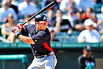 13 March 2012: Atlanta Braves infielder Tyler Pastornicky in action during a Spring Training game against the Miami Marlins at Roger Dean Stadium in Jupiter, Florida. The two teams battled to a 2-2 tie playing 10 innings of Grapefruit League action. Mandatory Credit: Ed Wolfstein Photo
