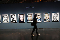 Photokina in Cologne ist the World's biggest bi-annual photo fair..Photo exhibition at Hall 1..Portraits of politicians by Platon.