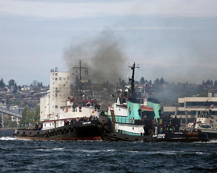 Seattle, WA  May, 14th  2011  Tugboat Races, Seattle Maritime Festival
