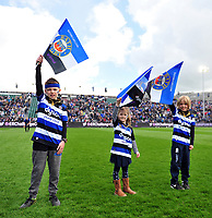 A general view of the Bath Rugby guard of honour. European Rugby Challenge Cup Quarter Final, between Bath Rugby and CA Brive on April 1, 2017 at the Recreation Ground in Bath, England. Photo by: Patrick Khachfe / Onside Images