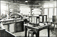 BNPS.co.uk (01202 558833)<br /> Pic: JanJarvis/BNPS<br /> <br /> The research laboratory of the gunpowder factory back in the 1860's.<br /> <br /> A lot of bang for your buck...<br /> <br /> A former royal hunting lodge that went on to become a world-renowned gunpowder factory has exploded onto the property market.<br /> <br /> Eyeworth Lodge, in the picturesque surroundings of Fritham in the New Forest, was the perfect isolated place for the risky business that saw lots of men injured or even killed, but it is now a stunning country home for anyone who wants to escape to the country.<br /> <br /> The seven-bedroom home, which has eight acres of land, is on the market with Strutt &amp; Parker for &pound;4million.