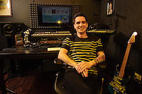 STUDIO CITY, CA : ***HIGHER RATES APPLY*** ***CALL FOR RATES*** Brendan Urie of Panic At The Disco photographed in Studio City, CA on March 17, 2016. Photo © Kevin Estrada / MediaPunch