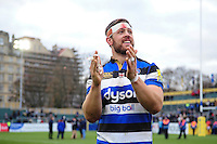 Dave Attwood of Bath Rugby acknowledges the crowd after the match. Aviva Premiership match, between Bath Rugby and Saracens on December 3, 2016 at the Recreation Ground in Bath, England. Photo by: Patrick Khachfe / Onside Images