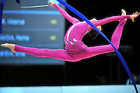 Viktoriya Mazur of Ukraine performs at 2010 World Cup at Portimao, Portugal on March 13, 2010.  (Photo by Tom Theobald).