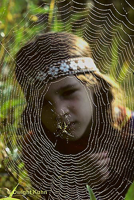 DW05-014z  Child looking a spider web