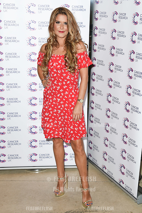 Gemma Oaten arriving at James Ingham&rsquo;s Jog On to Cancer, in aid of Cancer Research UK at The Roof Gardens in Kensington, London.  <br /> 12 April  2017<br /> Picture: Steve Vas/Featureflash/SilverHub 0208 004 5359 sales@silverhubmedia.com