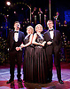 Side Show <br /> at Southwark Playhouse, London, Great Britain <br /> 25th October 2016 <br /> <br /> <br /> <br /> Haydn Oakley as Terry Connor<br /> <br /> Louise Dearman and Laura Pitt-Pulford as conjoined twins Daisy and Violet Hilton<br /> <br /> Dominic Hodson as Buddy Foster<br /> <br /> <br /> <br /> Side Show is presented by Paul Taylor-Mills<br /> Music composed by Henry Krieger<br /> Book and Lyrics by Bill Russell<br /> Additional Book material is by Bill Condon<br /> Directed by Hannah Chissick<br /> Choreography by Matthew Cole <br /> Design by takis <br /> Musical direction by Jo Cichonska<br /> Sound design by Dan Simpson<br /> <br /> Photograph by Elliott Franks <br /> Image licensed to Elliott Franks Photography Services