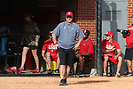 RALEIGH, NC - MARCH 29: NC State head coach Shawn Rychcik. The North Carolina State University Wolfpack hosted the Liberty University Flames on March 29, 2017, at Dail Softball Stadium in Raleigh, NC in a Division I College Softball game. Liberty won the game 5-3.