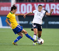 Carli Lloyd, Bia.  The USWNT defeated Brazil, 4-1, at an international friendly at the Florida Citrus Bowl in Orlando, FL.