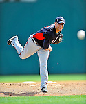 4 March 2011: Atlanta Braves pitcher Brandon Beachy in action during a Spring Training game against the Washington Nationals at Space Coast Stadium in Viera, Florida. The Braves defeated the Nationals 6-4 in Grapefruit League action. Mandatory Credit: Ed Wolfstein Photo