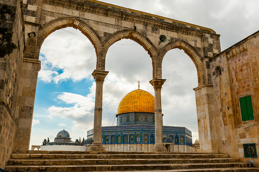 The Dome on the Mount on the Temple Mount (Mount Mariah), Old City, Jerusalem, Israel.