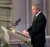 United States President George W. Bush makes remarks at the State Funeral for former United States President Gerald R. Ford at the Washington National Cathedral, in Washington, D.C. on Tuesday, January 2, 2007..Credit: Ron Sachs / CNP.[NOTE: No New York Metro or other Newspapers within a 75 mile radius of New York City].