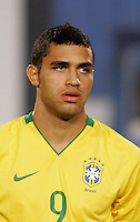 Brazil's Alan Kardec (9) stands on the pitch before the game against Costa Rica during the FIFA Under 20 World Cup Semi-final match at the Cairo International Stadium in Cairo, Egypt, on October 13, 2009. Brazil won the match  1-0.