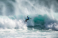 Margaret River, Western Australia (Saturday, April 18, 2015) Adriano de Souza (BRA). &ndash; Day four of the 2015 Drug Aware Margaret River Pro was called on today with the swell building to a massive 20' sets at the main break at Margaret River.  The surf was in the 12'-15' range with bigger sets mid afternoon.<br /> Round 4 through to the semi finals were decided before the contest was called off late afternoon. Photo: joliphotos.com