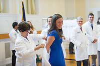 Tania Bertsch, M.D., left, Bryce Bludevich. Class of 2017 White Coat Ceremony.