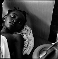 Luanda, Angola, May 20, 2006.Angela, 10, is a patient at the Cacuaco MSF Belgium operated cholera field clinic. Between February and June 2006, more than 30000 people were infected with cholera in Angola's worse outbreak ever; more than 1300 died.
