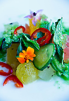Delicious food presentations and salad imagery from various cafes, restaurants and eateries.
