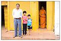 Inde<br /> Famille sur la route de Khajuraho.