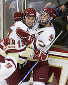 Cam Atkinson (BC - 13), Brian Gibbons (BC - 17) - The Boston College Eagles defeated the visiting University of Vermont Catamounts 6-0 on Sunday, November 28, 2010, at Conte Forum in Chestnut Hill, Massachusetts.