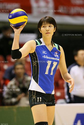 Maiko Kano (Springs), <br /> DECEMBER 13, 2013 - Volleyball : <br /> 2013 Emperor's Cup and Empress's Cup <br /> All Japan Volleyball Championship women's match <br /> between Hisamitsu Springs 3-1 Hitachi Rivale <br /> at Tokyo Metropolitan Gymnasium, Tokyo, Japan. <br /> (Photo by YUTAKA/AFLO SPORT)