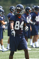 Virginia wide receiver Jared Green during open spring practice for the Virginia Cavaliers football team August 7, 2009 at the University of Virginia in Charlottesville, VA. Photo/Andrew Shurtleff