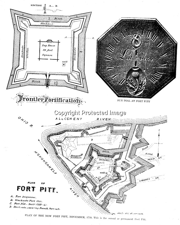 1758 diagram of fort pitt