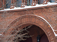 Billings Library details, UVM Winter Campus